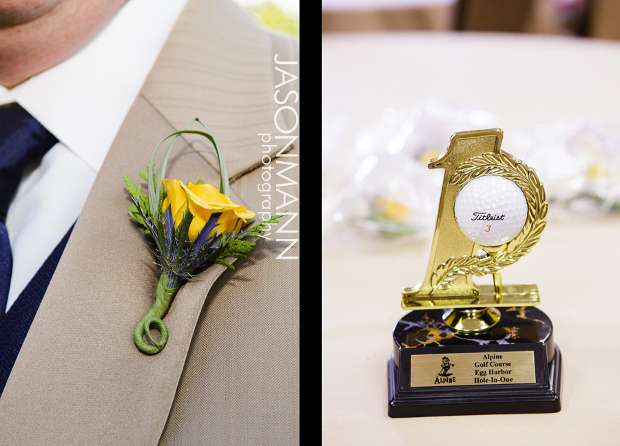 Jason Mann Photography - Door County Wedding Boutineer and Golf Trophy