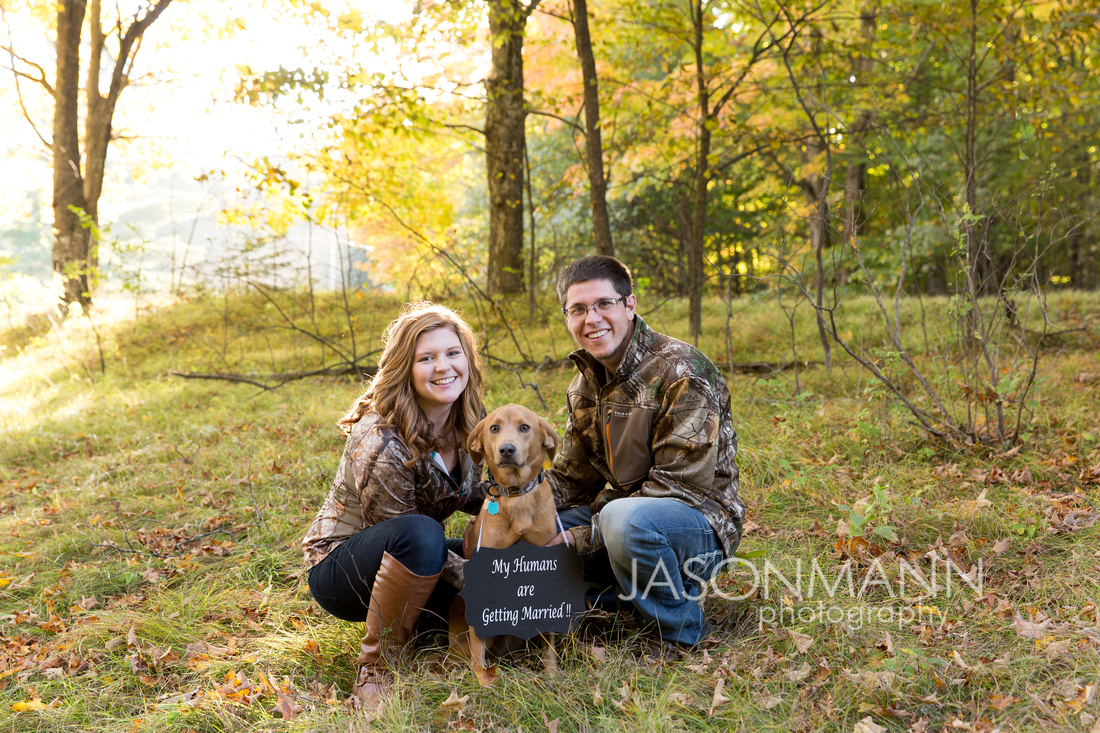 Door County Engagement Photographer, Sturgeon Bay Dog Engagement Portrait Photography