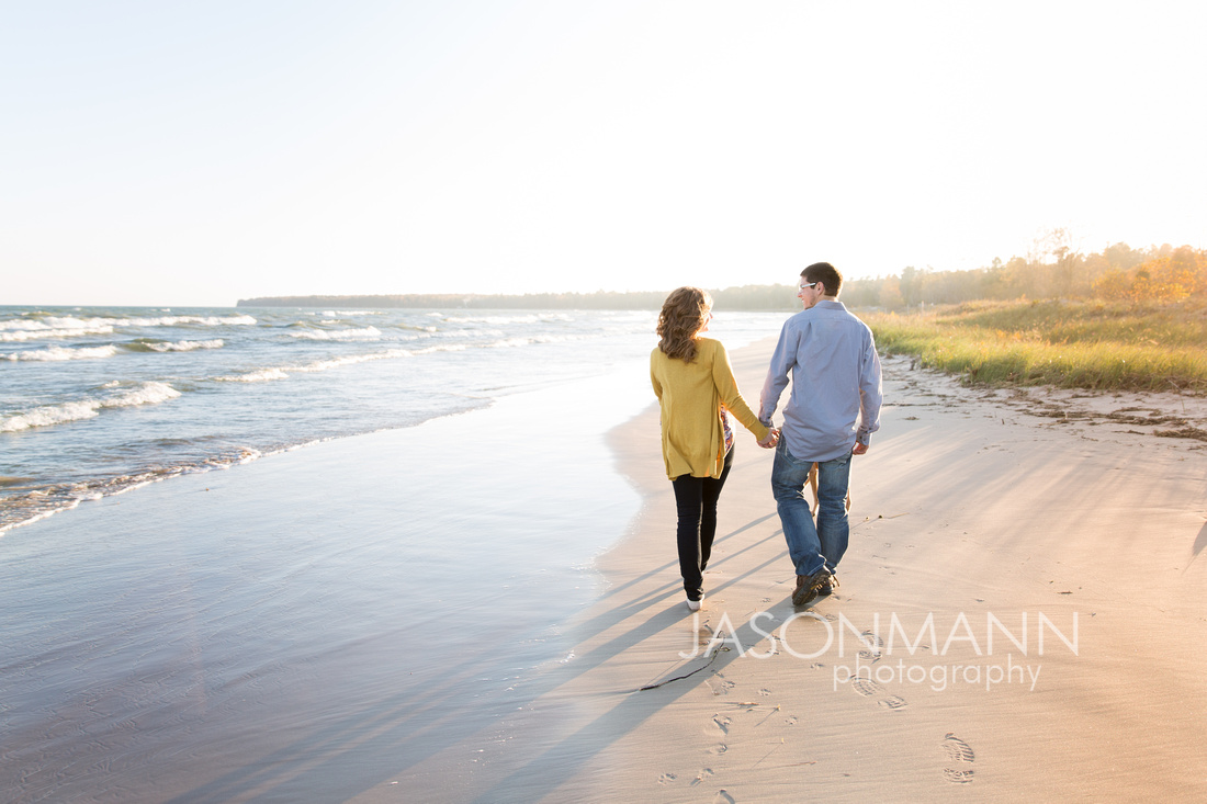 Door County Engagement Photographer, Sturgeon Bay Beach Wedding Photography